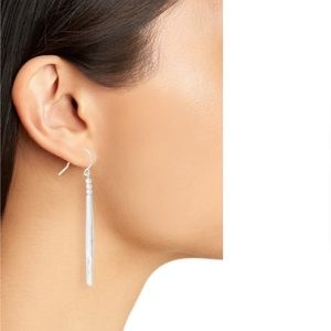 NWOT gorjana Kellen Drop Earrings in Silver